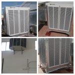 Acondicionador evaporativo en fábrica de toldos en Elche