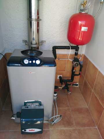 Instalación caldera gasóleo