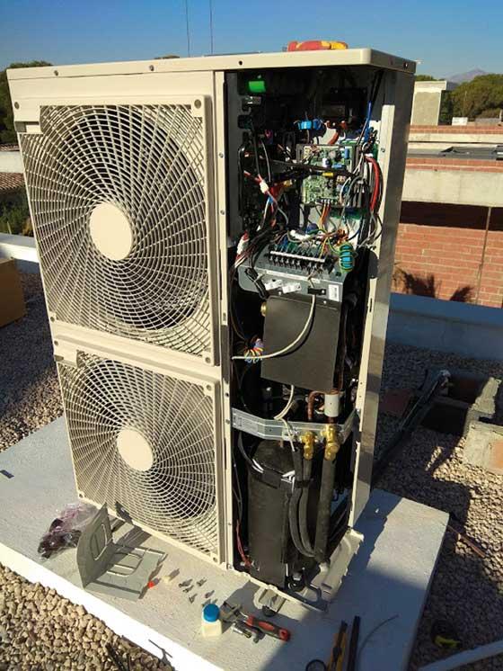 Revisión de aparato de aire acondicionado