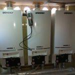 Maintenance technique légale de 3 chaudières à cascade buderus à l'hôtel Castilla