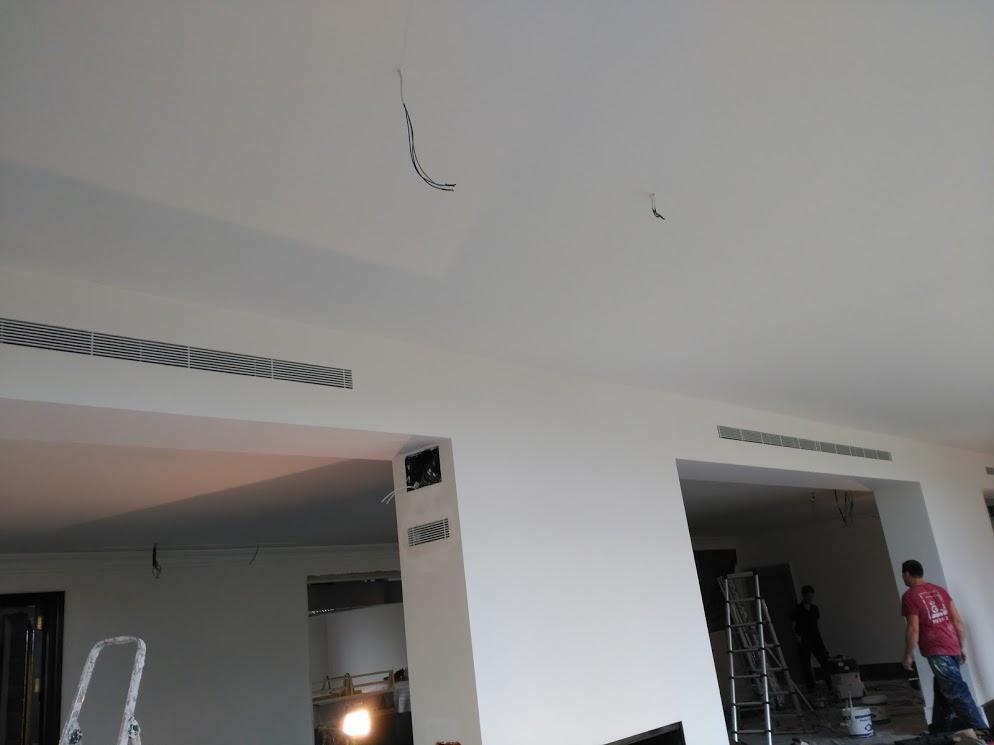 Difusión de aire con rejilla lineal sin marco