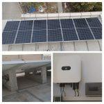 fotovoltaica con lastres de hormigón en Busot
