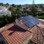 fotovoltaica en chalet de Calpe